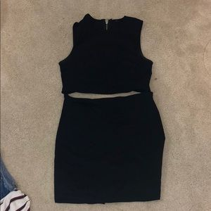 cut out body con zip dress